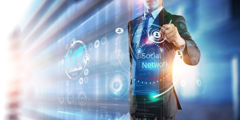 Media technologieën voor zaken Gemengde media stock afbeeldingen