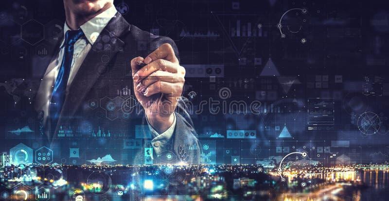Media technologies for business Gemengde media stock fotografie
