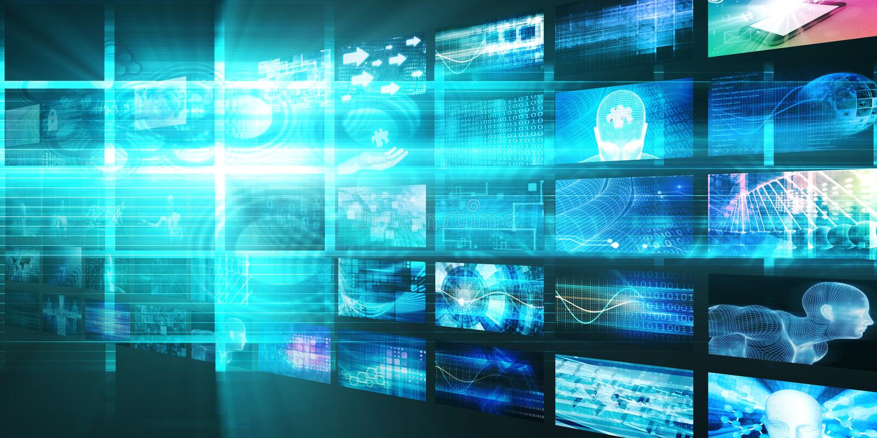 Media Technologies Concept royalty free illustration