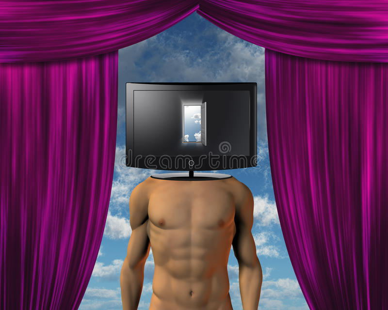 Media Theater Mind Royalty Free Stock Photography