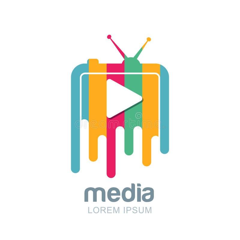 Media and tv news logo design template. royalty free illustration