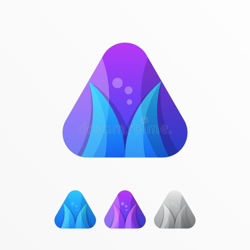 Media van het communicatie Vectormalplaatje embleem het Abstracte symbool royalty-vrije illustratie