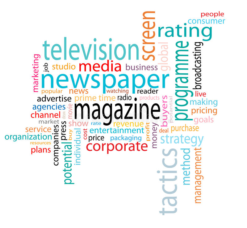 Media word cloud royalty free illustration