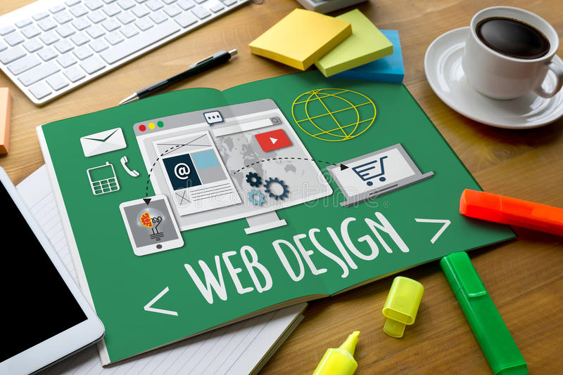 MEDIA WWW λογισμικού σχεδίου Ιστού και απαντητικός Ιστός σχεδίου ιστοχώρου στοκ εικόνες