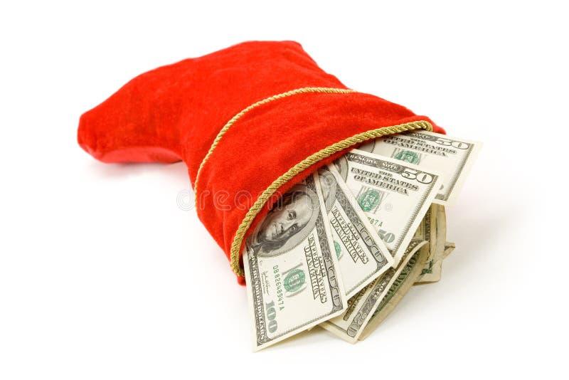 Media y dólares de la Navidad foto de archivo libre de regalías