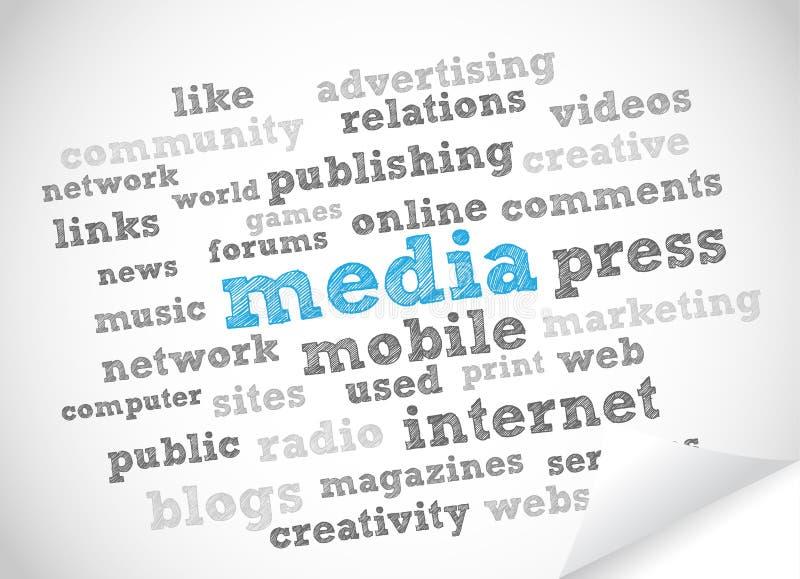Media y prensa ilustración del vector