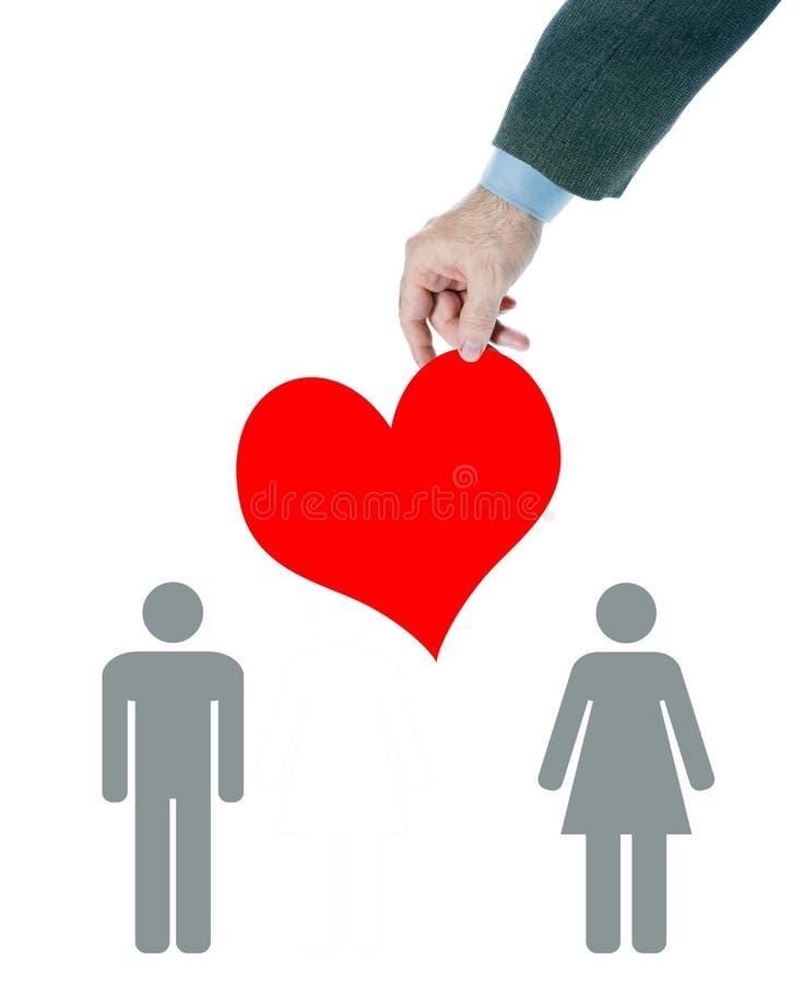 Mediación en relaciones del amor entre la gente imagen de archivo libre de regalías