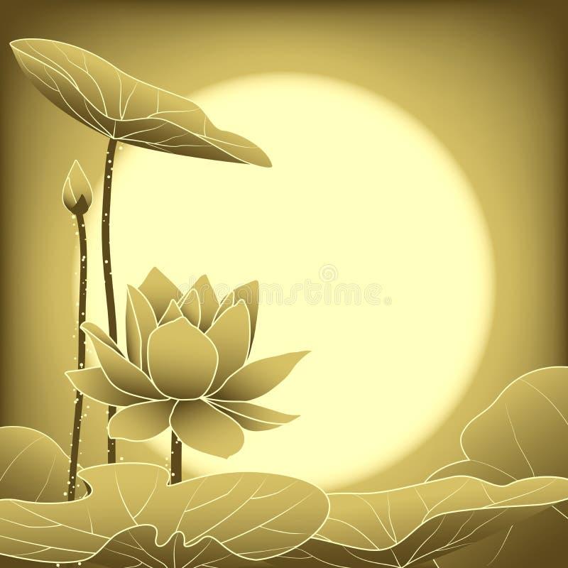 Mediados de Autumn Festival Lotus Flower oriental libre illustration