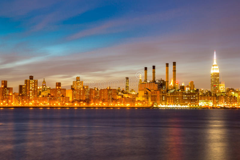 Mediados de ciudad de Newyork imágenes de archivo libres de regalías