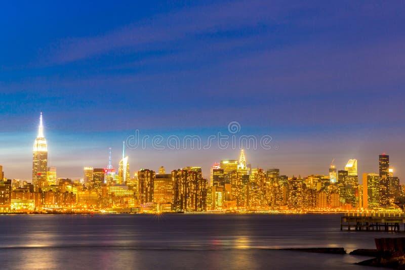 Mediados de ciudad de Newyork foto de archivo libre de regalías