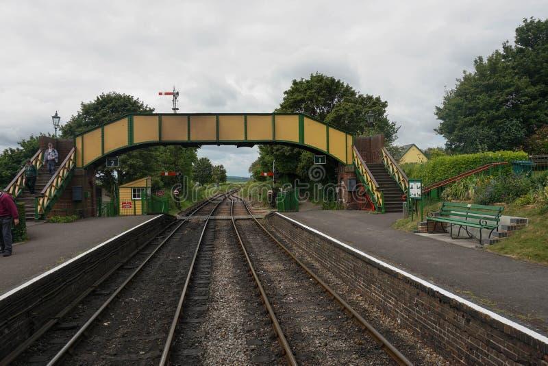 Mediados de ferrocarril del vapor de Hants fotos de archivo libres de regalías