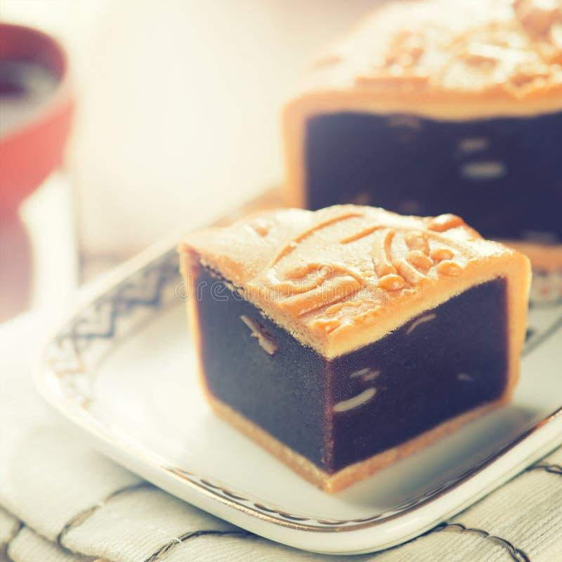 Mediados de mooncake de las comidas del festival del otoño foto de archivo