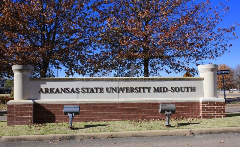 Mediados de-sur de la universidad de estado de Arkansas, Memphis del oeste, Arkansas foto de archivo libre de regalías