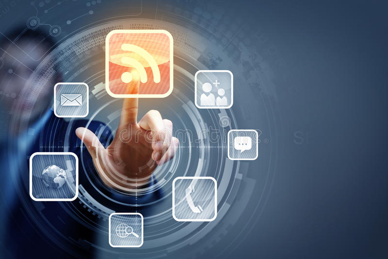 Medialne technologie obraz stock