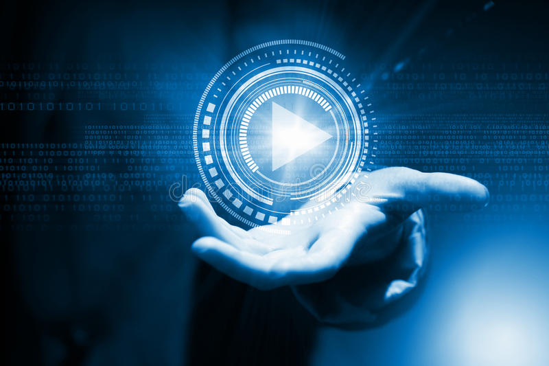 Medialne technologie w nasz rękach obrazy stock