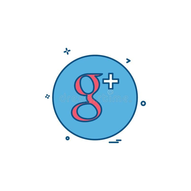 medialnej sieci gmail ikony ogólnospołeczny wektor royalty ilustracja