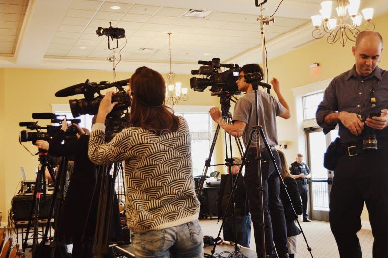 Medialny członkowie ekipy telewizyjnej zdjęcie royalty free