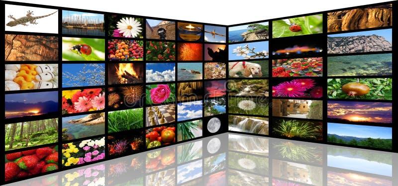 medialny pokój obrazy stock