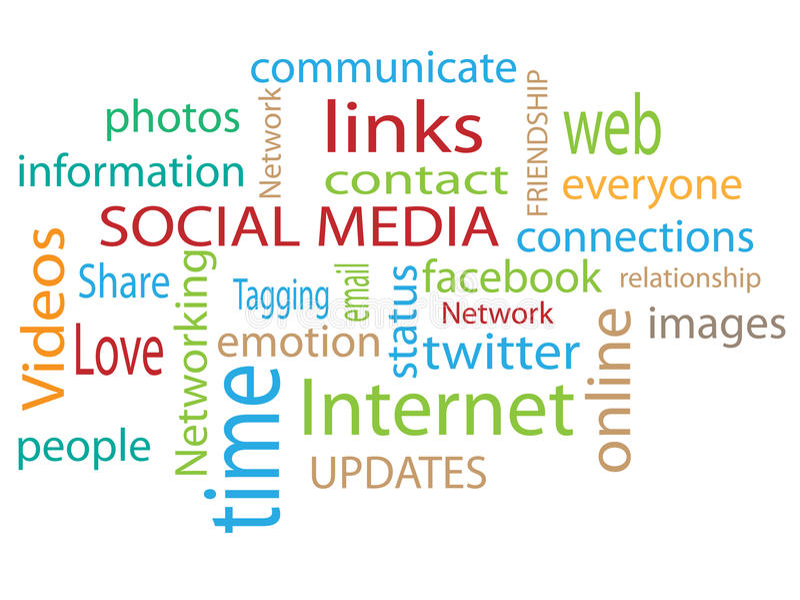 medialny socjalny ilustracja wektor