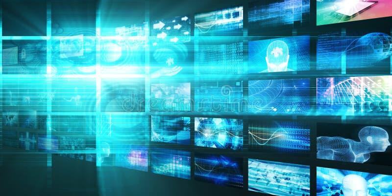 Medialny technologii pojęcie royalty ilustracja