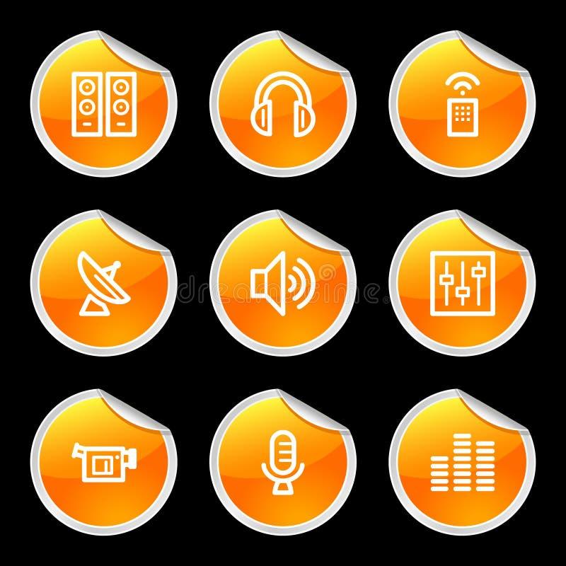 medialnych ikony ilustracji