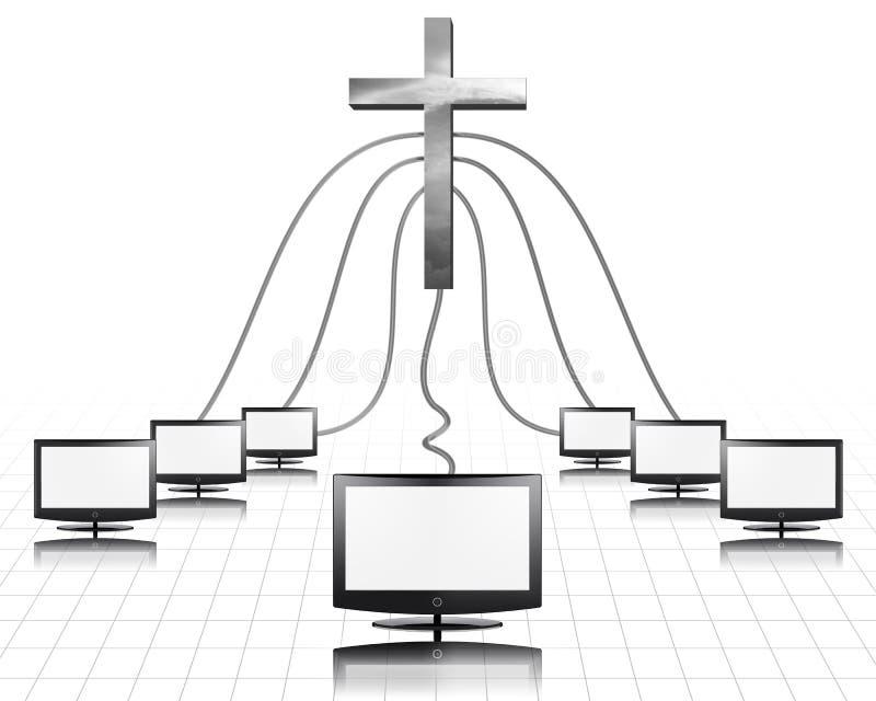 Medias chrétiens illustration de vecteur
