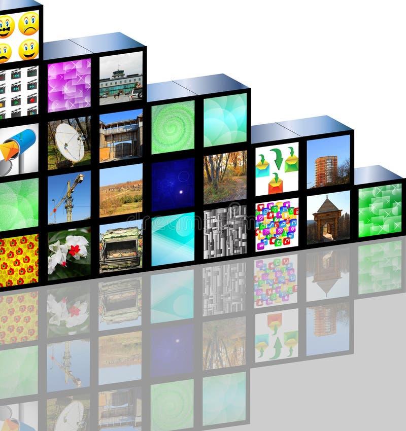 Medias cubiques illustration stock