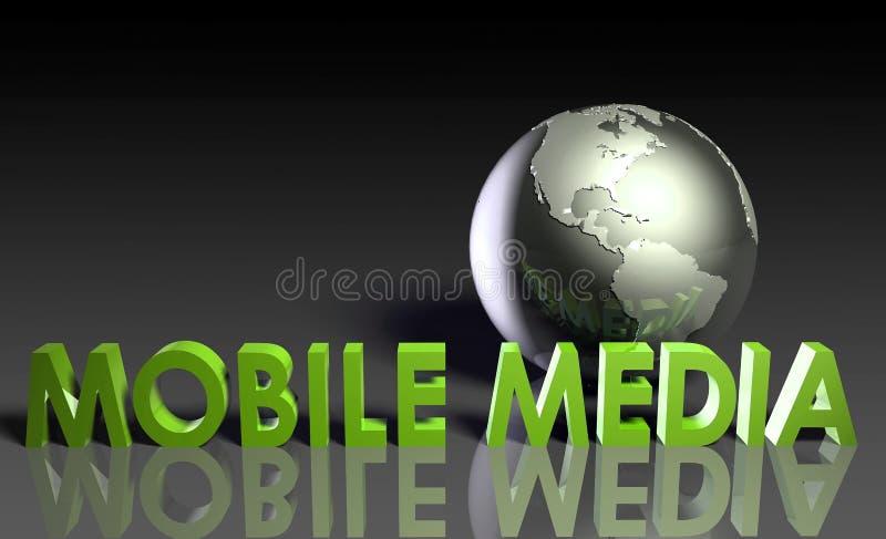 Medias mobiles illustration libre de droits
