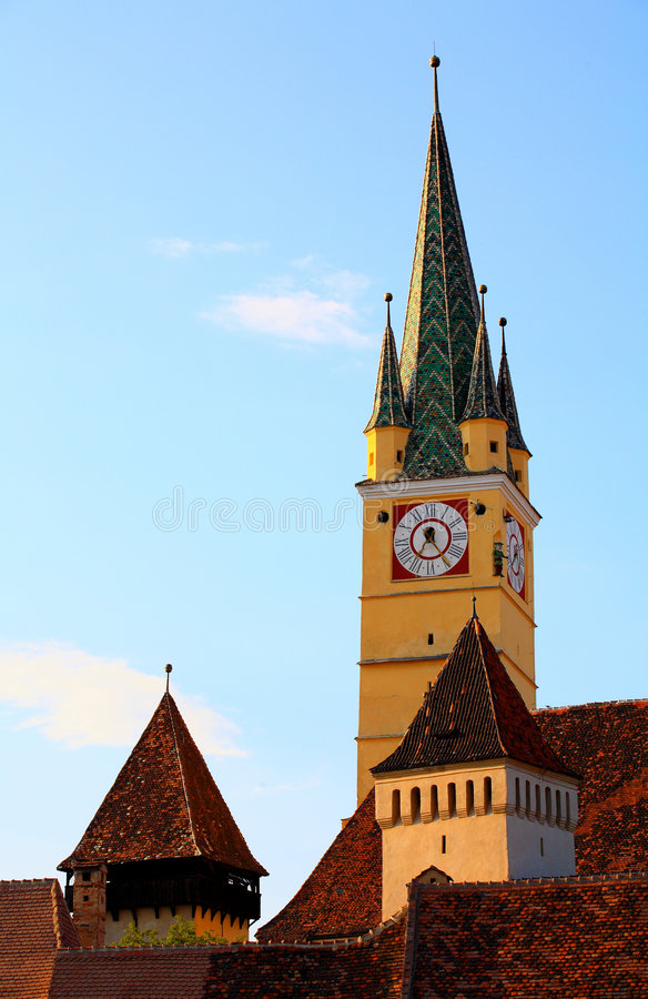Free Medias Old Church Tower Royalty Free Stock Photos - 2822518