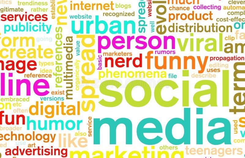 Medias sociaux illustration de vecteur