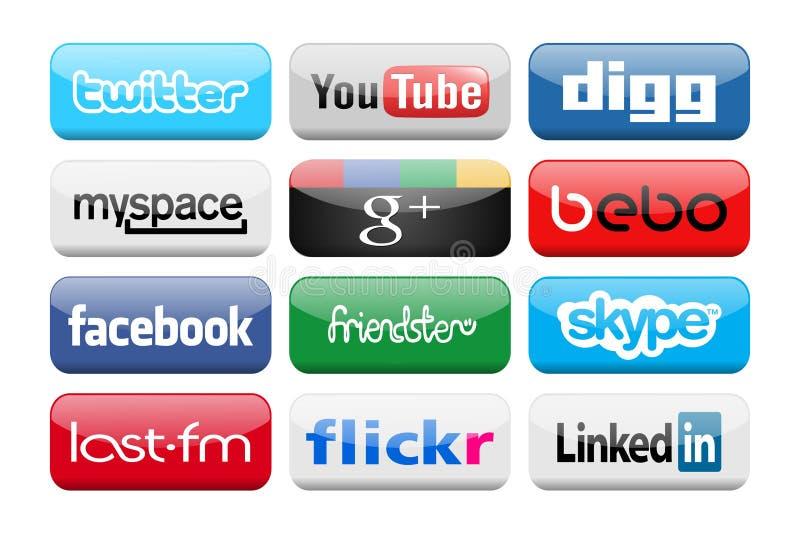Medias sociaux illustration libre de droits