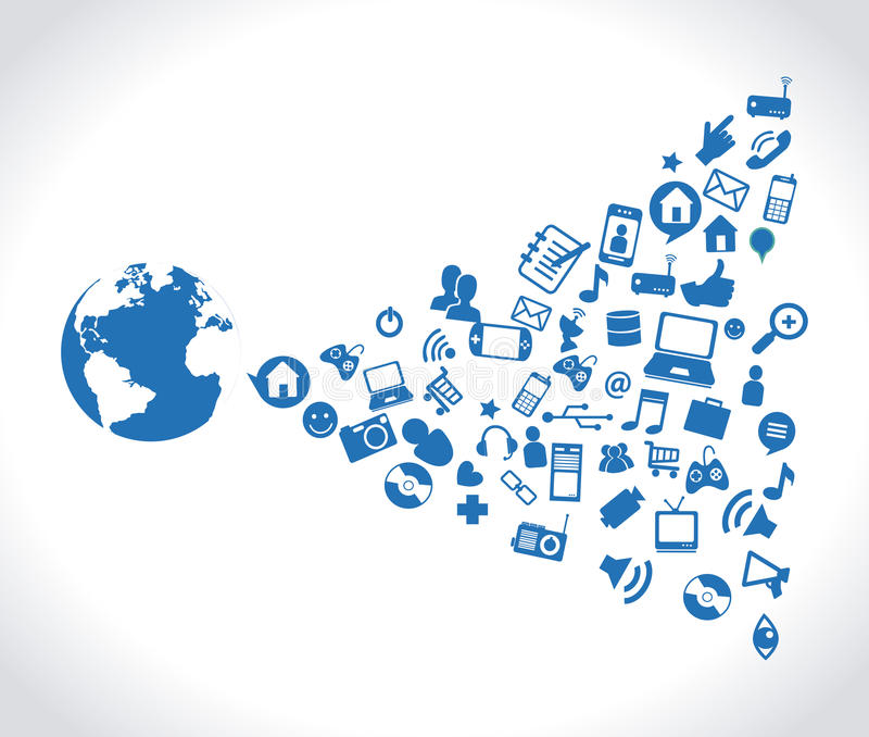 Medias sociaux illustration stock