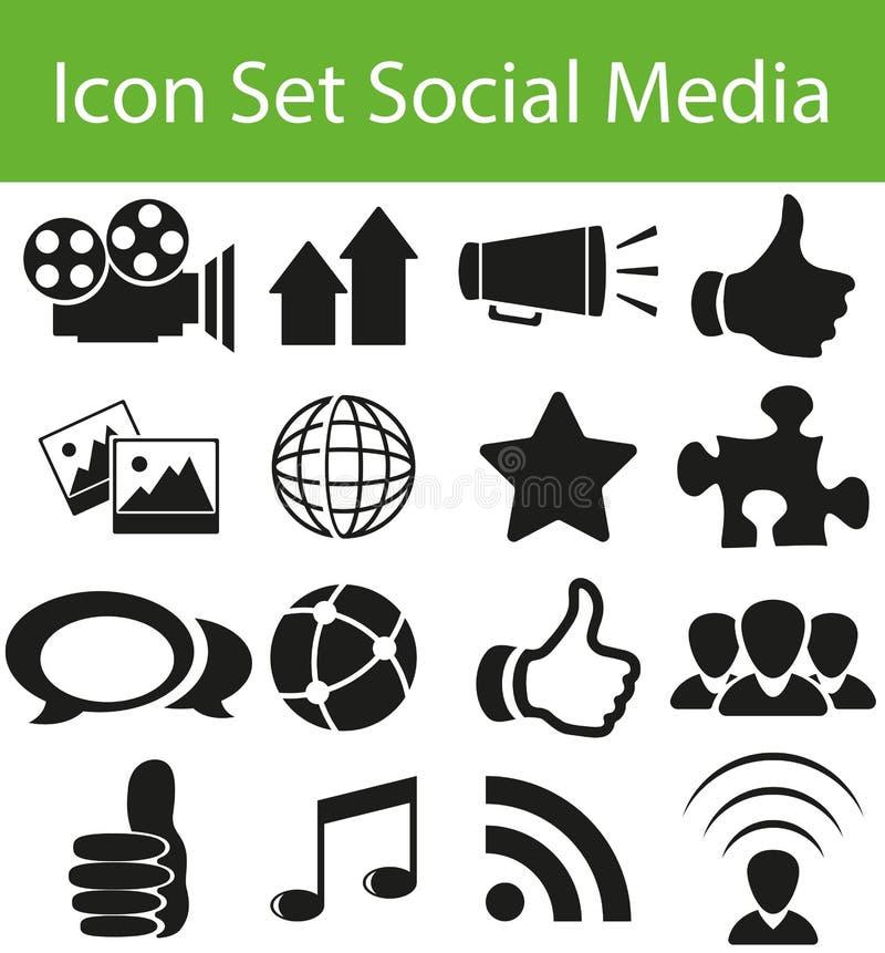 Medias sociaux réglés de graphisme illustration de vecteur