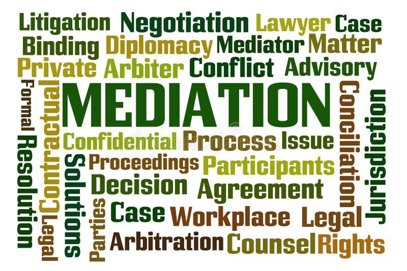 mediation vektor illustrationer