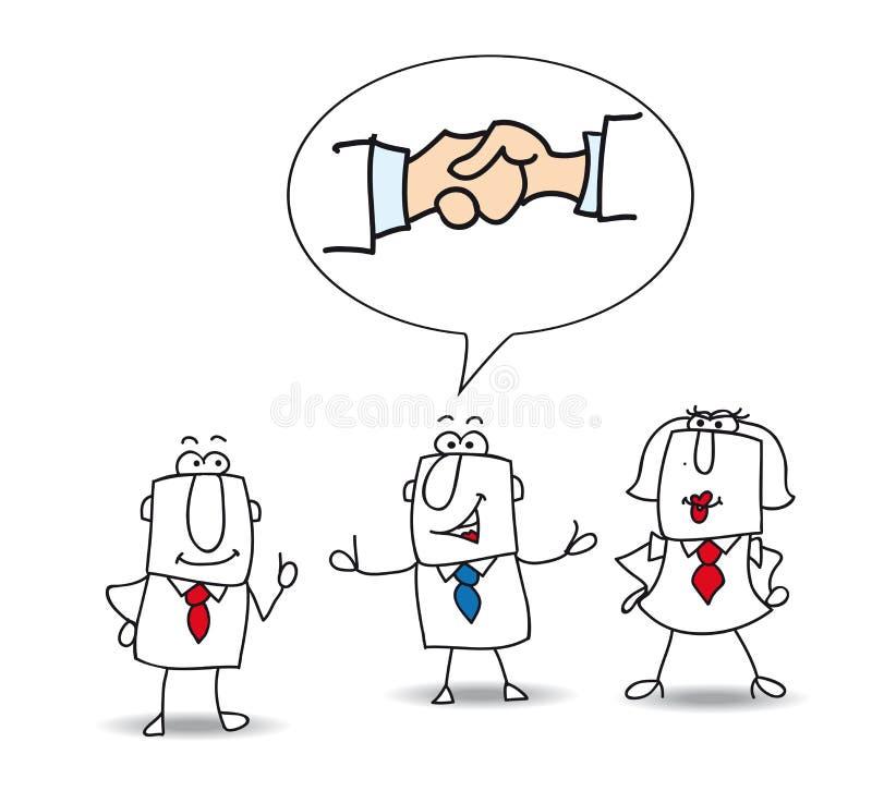 mediation royaltyfri illustrationer