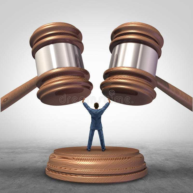 Mediation Resolution royalty free illustration