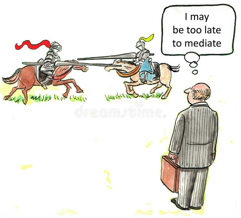 Mediator royalty free illustration