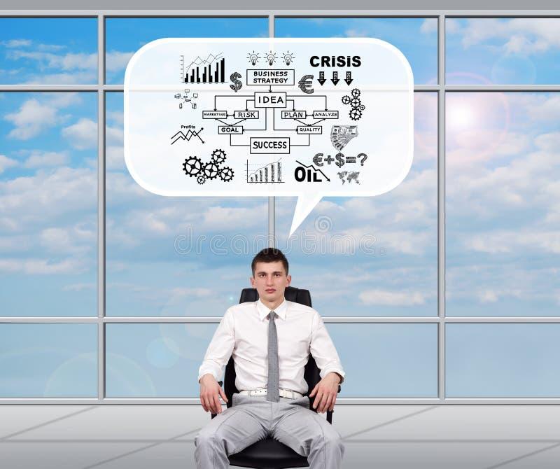 Mediatore che sogna del business plan immagine stock libera da diritti