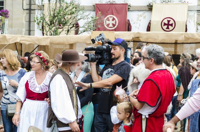 Mediaval frair in Galicië Spanje stock foto's