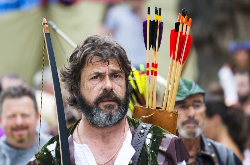 Mediaval frair in Galicia Spain stock photos