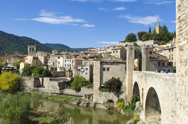 Besalu, Girona Catalonia, Spain royalty free stock photos