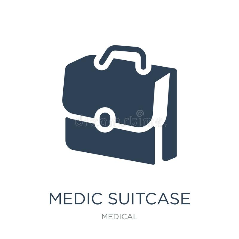 medic suitcase icon in trendy design style. medic suitcase icon isolated on white background. medic suitcase vector icon simple stock illustration
