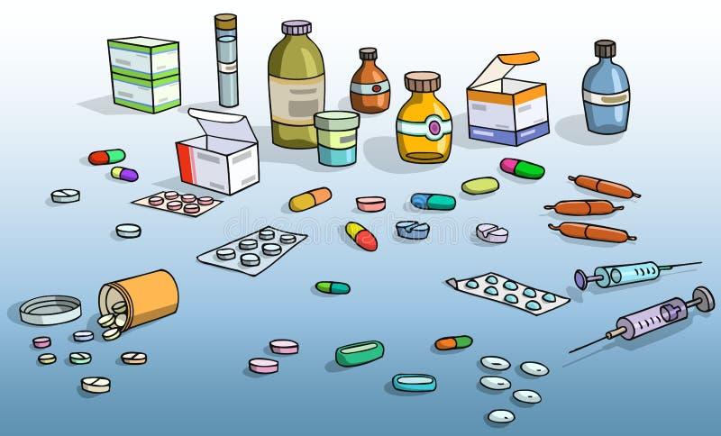 Medicación ilustración del vector