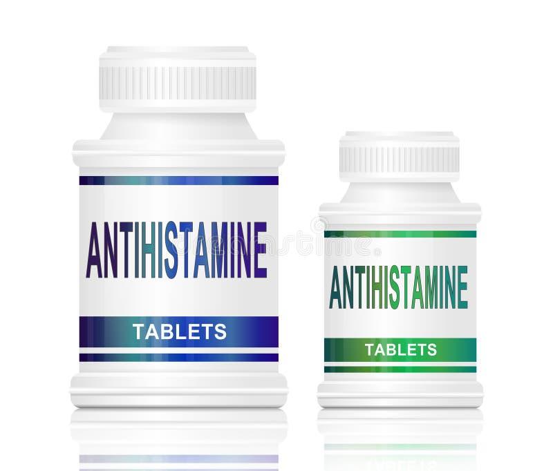 Medicación del antihistamínico. ilustración del vector