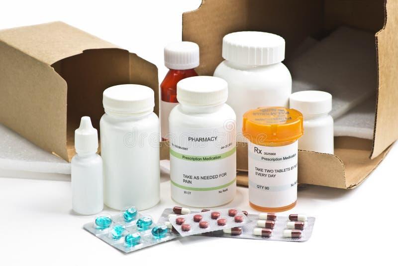 Medicaciones del pedido por correo foto de archivo libre de regalías