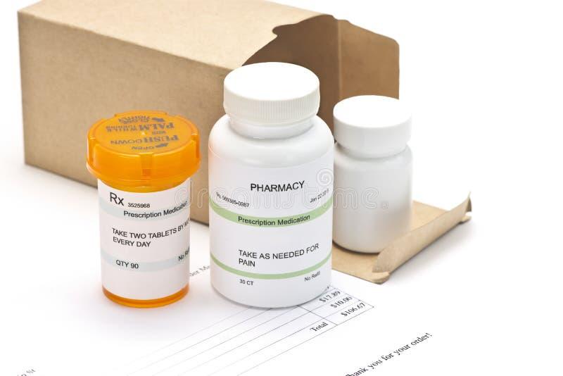 Medicaciones del pedido por correo imagen de archivo
