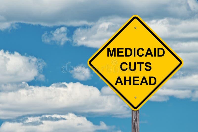 Medicaid som varnar framåt tecknet arkivfoto