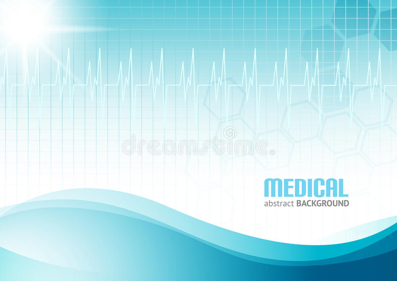 Medical Abstract Background vector illustration