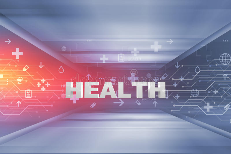 Medical Abstract Background Concept Series 109. Medical Abstract Background, Medical Symbols with 3d Health Text, Suitable for Healthcare and Medical News Topic stock image