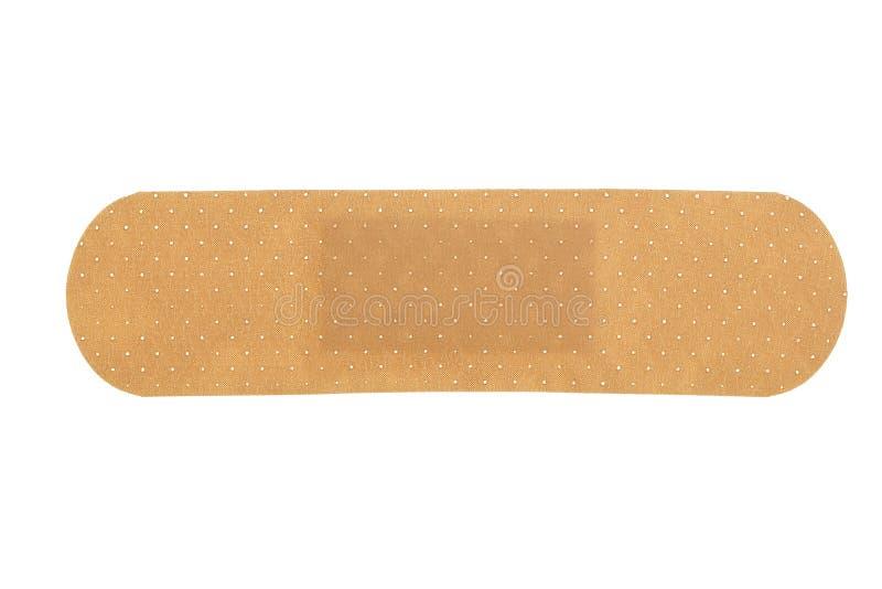 Medical adhesive bandage. Isolated on white royalty free stock image